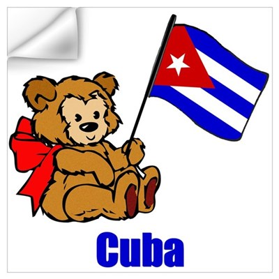Cuba Teddy Bear Wall Decal