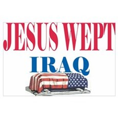 Jesus Wept Red,White & Blue Poster