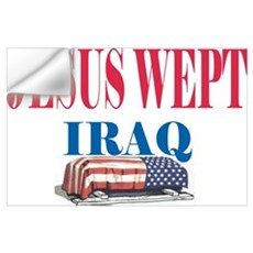 Jesus Wept Red,White & Blue Wall Decal
