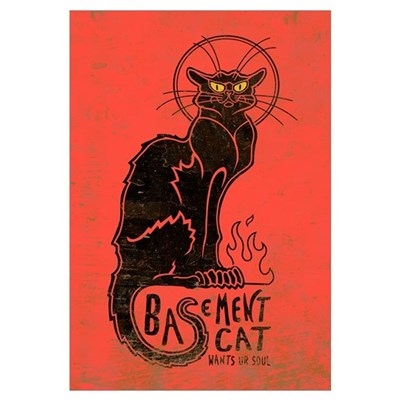 Basement Cat Framed Print