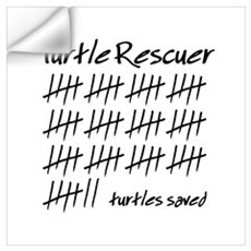 Turtle Rescuer Wall Decal