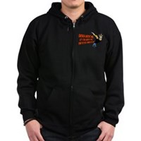 What Do You Think Of Me Zip Hoodie (dark)