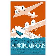 NY City Municipal Airports Poster