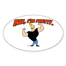 Johnny Bravo - Man, Im Pretty Decal