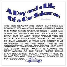A DAY AND LIFE OF A CAR SALESMAN Poster