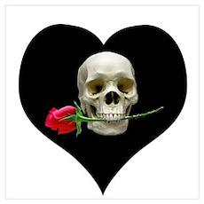 Blackheart SkullRose Poster