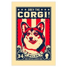 Obey the CORGI! Canvas Art