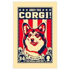 Obey the CORGI! Poster
