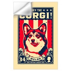 Obey the CORGI! Wall Decal