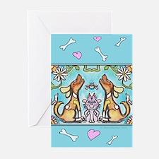 Cat bones Greeting Cards (Pk of 20)