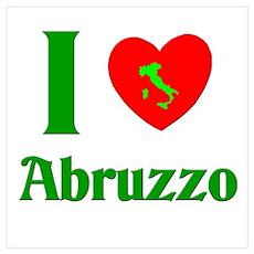 I Love Abruzzo Italy Poster