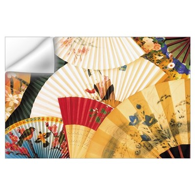 Vintage Japanese Fan Art Wall Decal