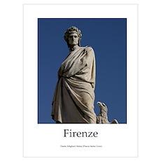 Statue of Dante Aligheri in Firenze Poster