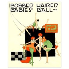 Bobbed haired flappers Poster