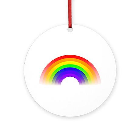 Fading Rainbow Graphic Ornament (Round)