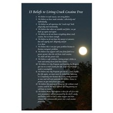 13 Beliefs to living crack free Poster