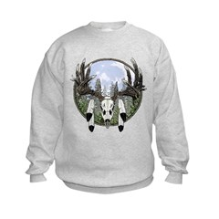 Whitetail deer skull 7 Sweatshirt