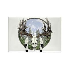 Whitetail deer skull 7 Rectangle Magnet (100 pack)