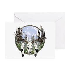 Whitetail deer skull 7 Greeting Cards (Pk of 20)