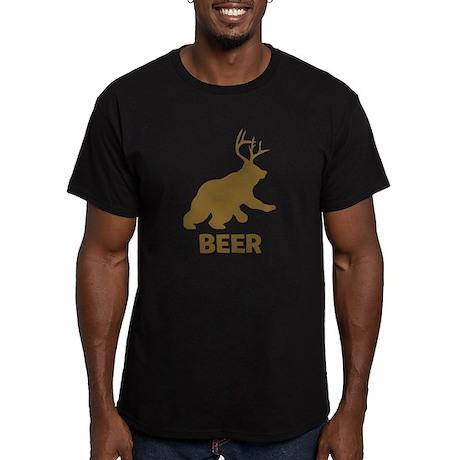 BEER Men's Fitted T-Shirt (dark)