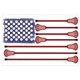 Lacrosse flag Wrapped Canvas Art