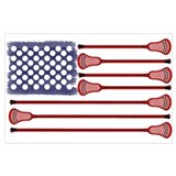 Lacrosse americas game Wrapped Canvas Art