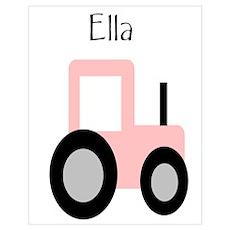 Ella - Pink Tractor Poster