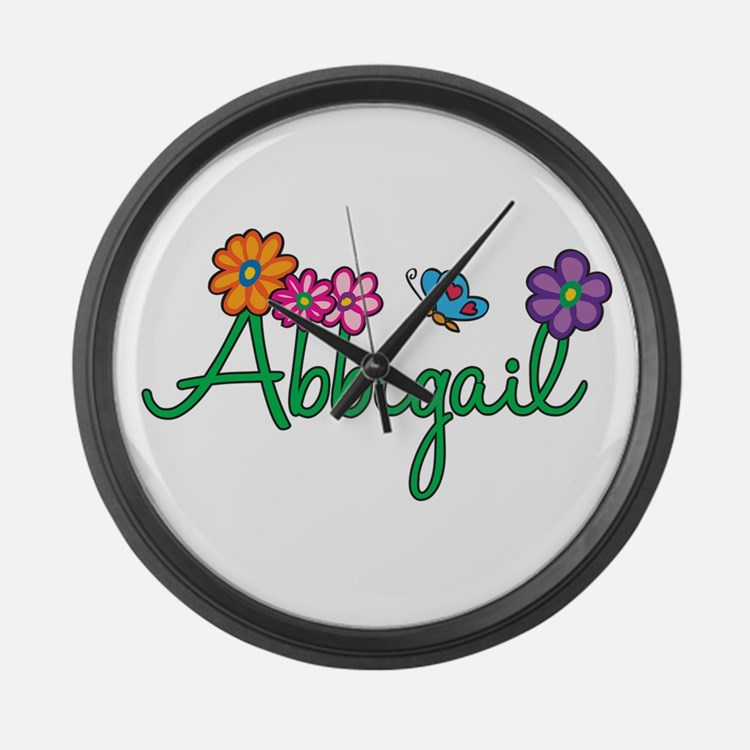 Abbigail Flowers Large Wall Clock