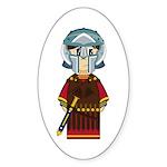 Cute Roman Gladiator Sticker (10 Pk)