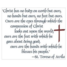 St. Teresa of Avila Quote Poster