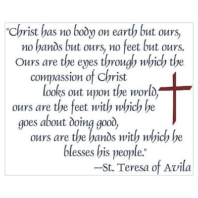 St. Teresa of Avila Quote Poster