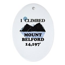 Mount Belford Ornament (Oval)