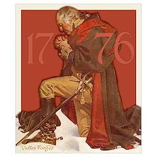 George Washington in Prayer Poster