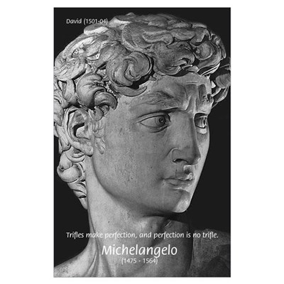 Michelangelo David Sculpture Poster