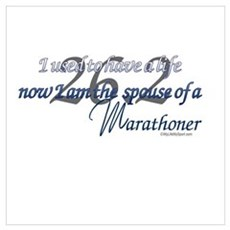 Spouse of a Marathoner Framed Print