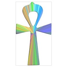 Psychedelic Ankh Poster