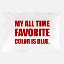 Favorite Color Blue Red Pillow Case