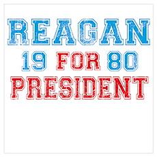 Retro Reagan 1980 Poster