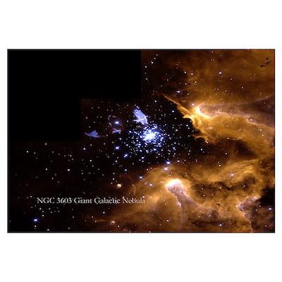 Giant Galactic Nebula Poster
