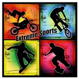 Extreme sports Wrapped Canvas Art