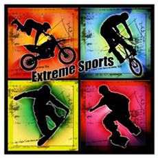 Extreme Sports Framed Print