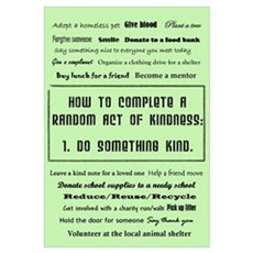 Random Acts of Kindness Framed Print