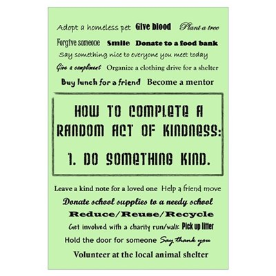 Random Acts of Kindness Canvas Art