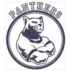 Panthers Team Mascot Poster