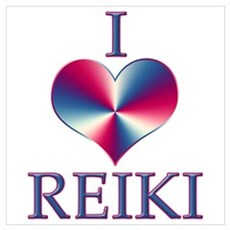 I LOVE REIKI Framed Print