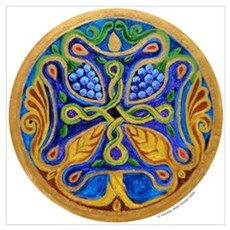 Armenian Tree of Life Cross Poster