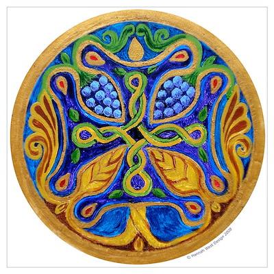 Armenian Tree of Life Cross Poster