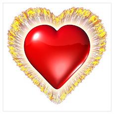 Fire Heart Poster