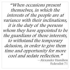 Federalist 71 Poster