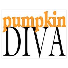 Pumpkin Diva Poster